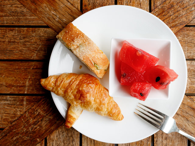 朝食スイカ